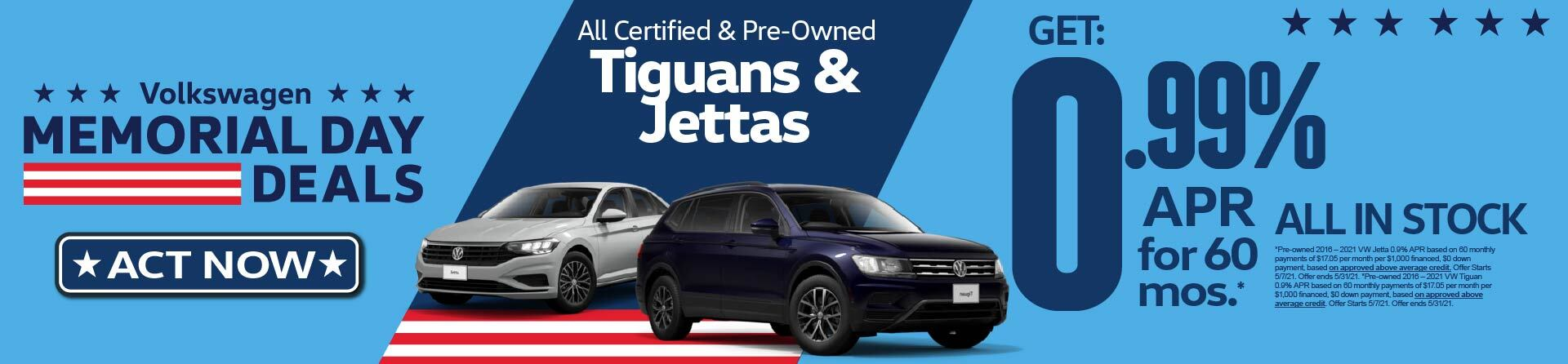 All Certified Preowned Tiguan and Jettas