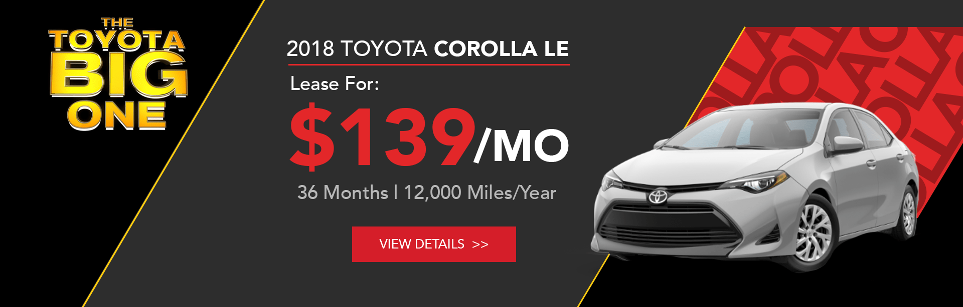 Toyota Corolla Lease Offer