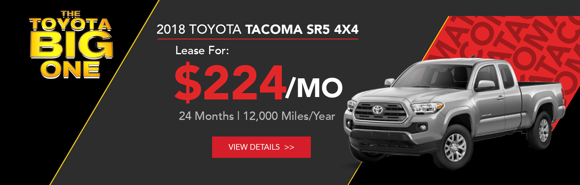 Toyota Tacoma Lease Offer