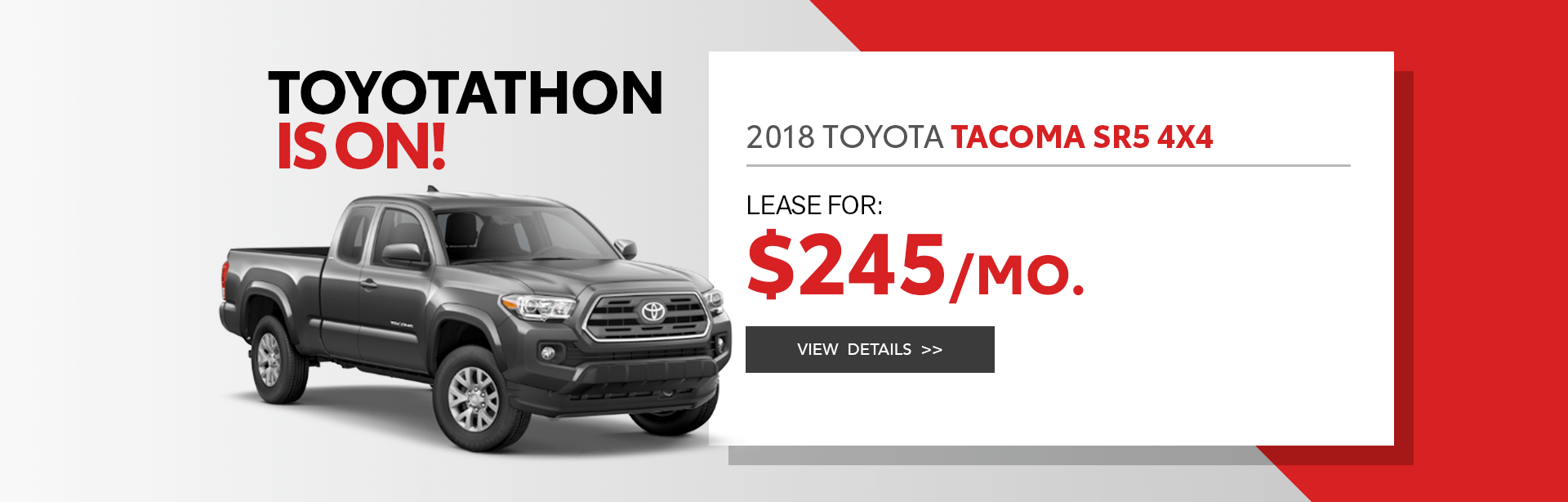 2018 Toyota Tacoma Lease Offer