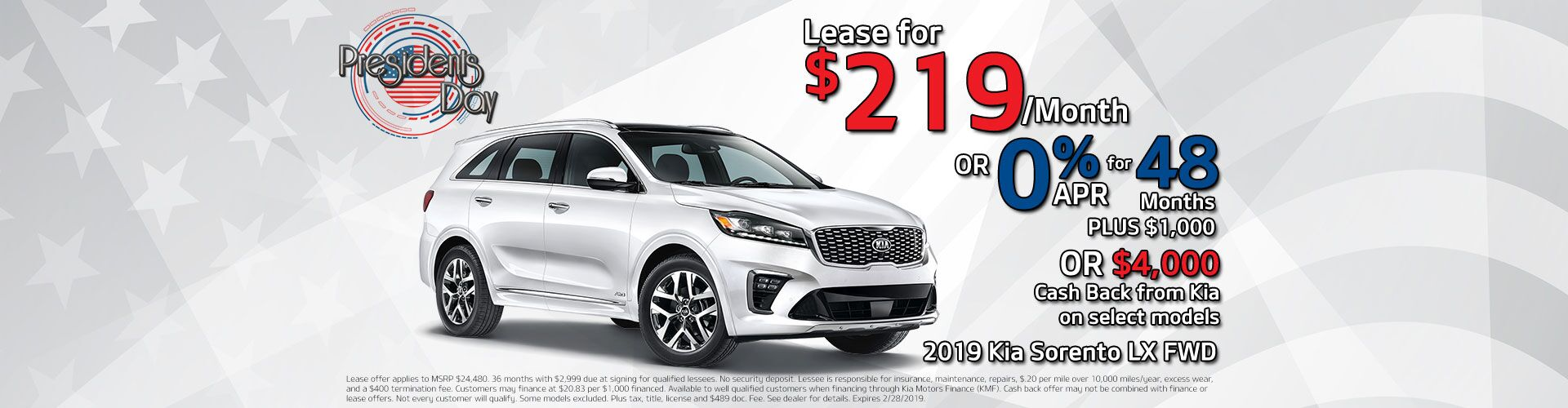 2019 Sorento Holiday