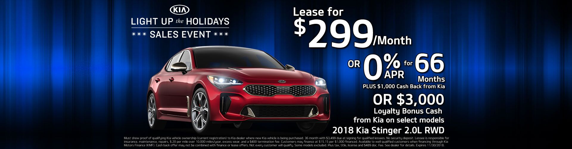 2018 Kia Stinger Lease