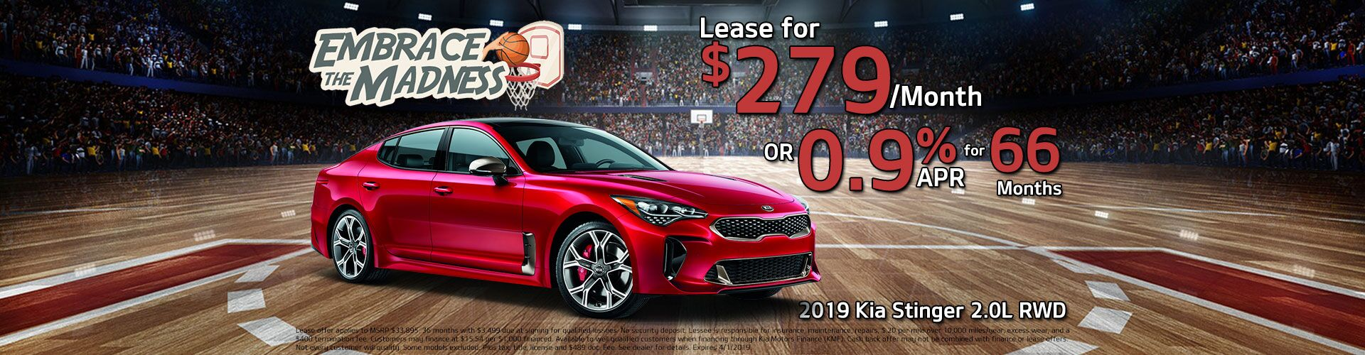 2019 Kia Stinger Holiday