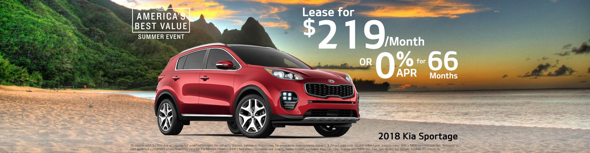 2018 Sportage Lease