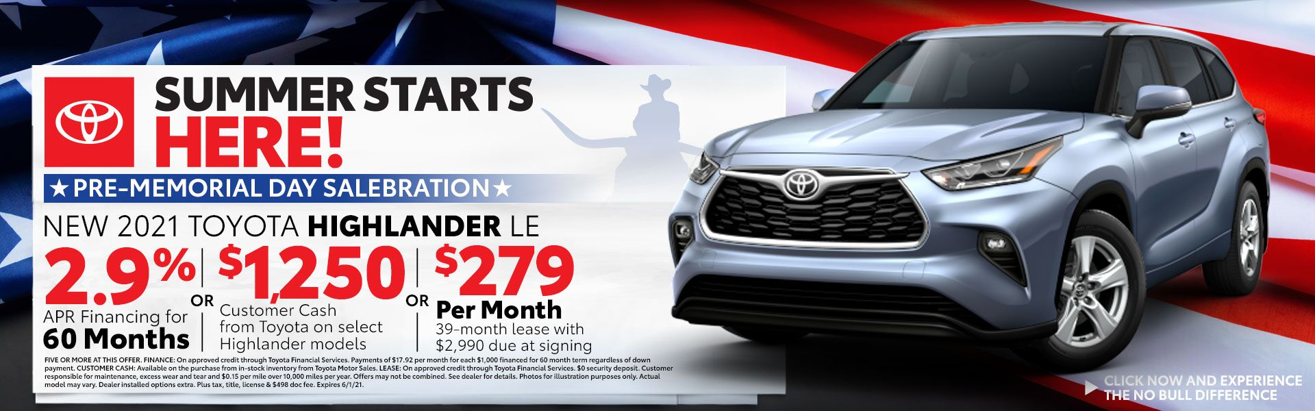 2021 Toyota Highlander Special Offer