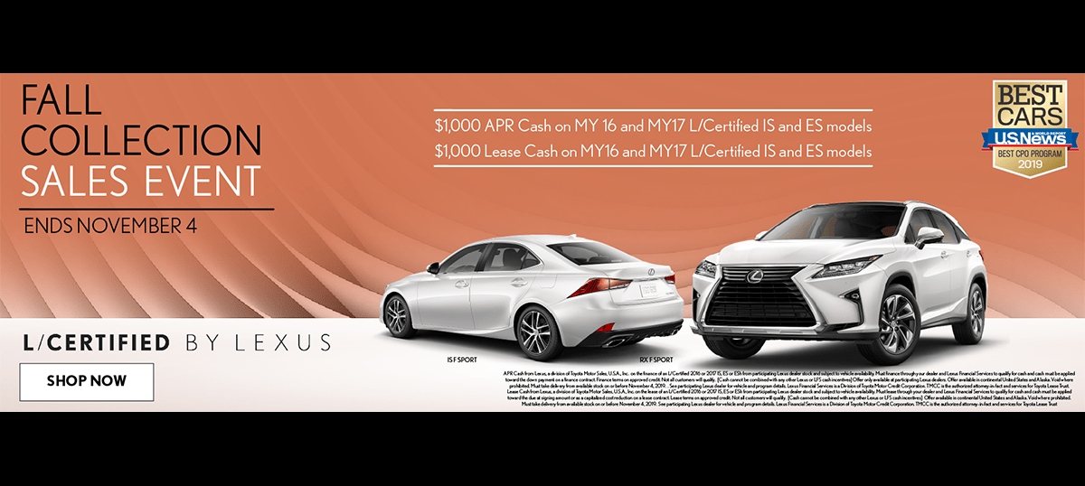 Fall Collection Sales Event at Earnhardt Lexus