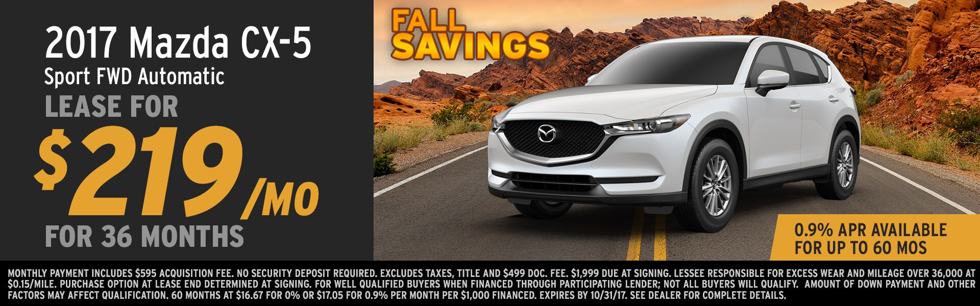 2017 CX-5 Lease at Earnhardt Mazda Las Vegas