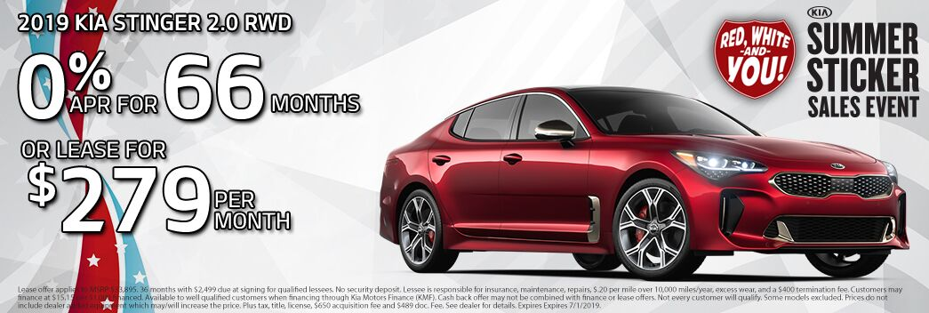 2019 Kia Stinger Lease