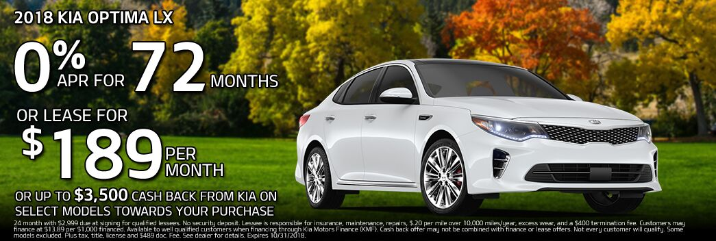 2018 Kia Optima Lease