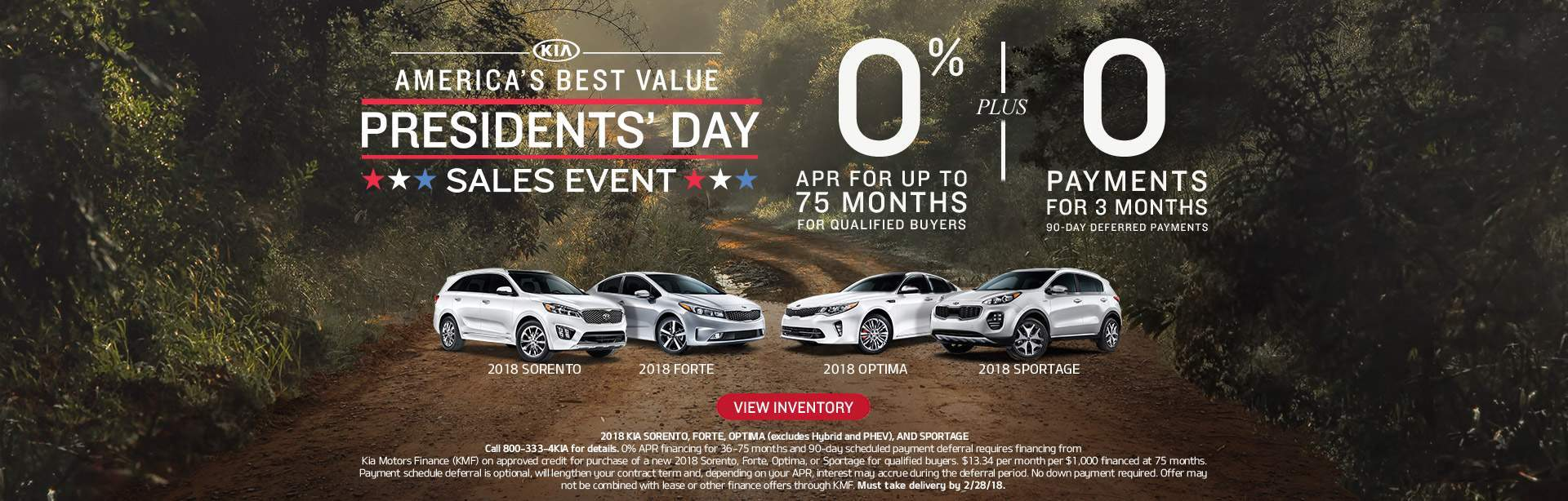 Presidents Day Sales Event at Earnhardt Kia