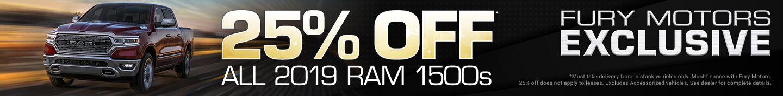 25% off 2019 Ram 1500
