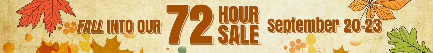 Fall 72 Hour Sale