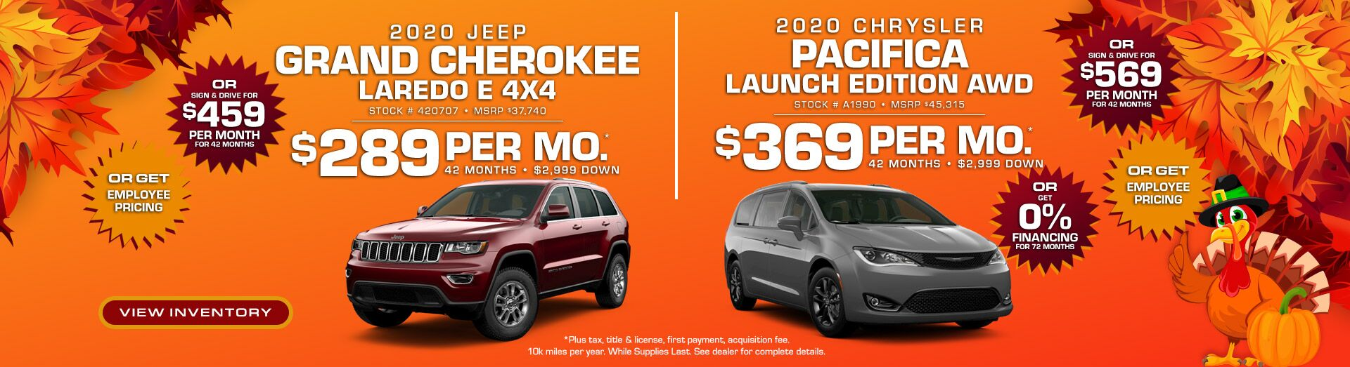 Grand Cherokee/Pacifica Lease