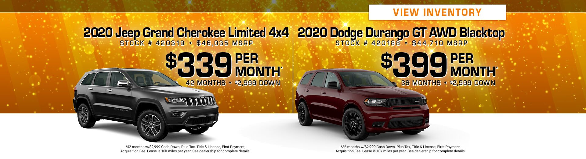 May - Grand Cherokee & Durango