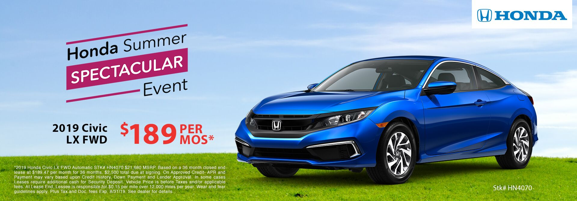 Honda Summer Event 2019 Civic
