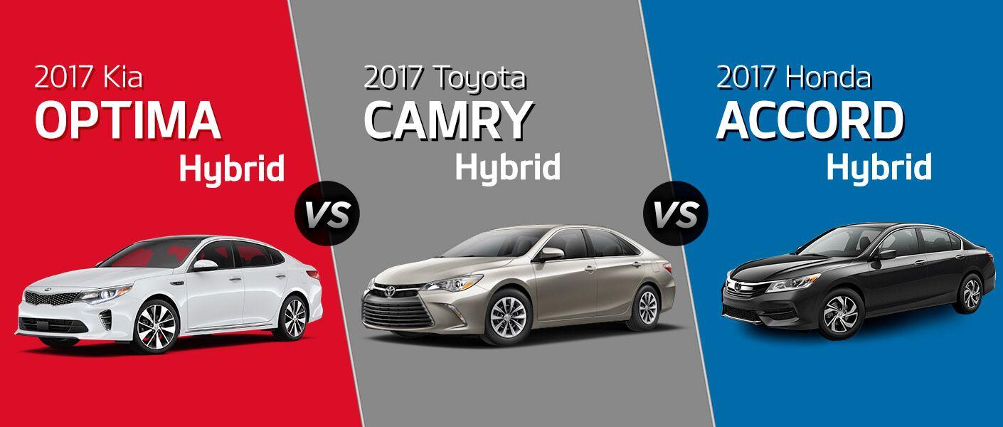 2017 Kia Optima Hybrid Vs Toyota Camry Honda Accord Specs