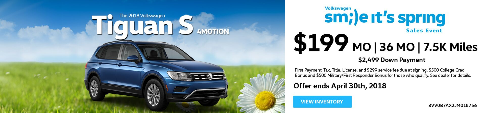 April Tiguan Offer