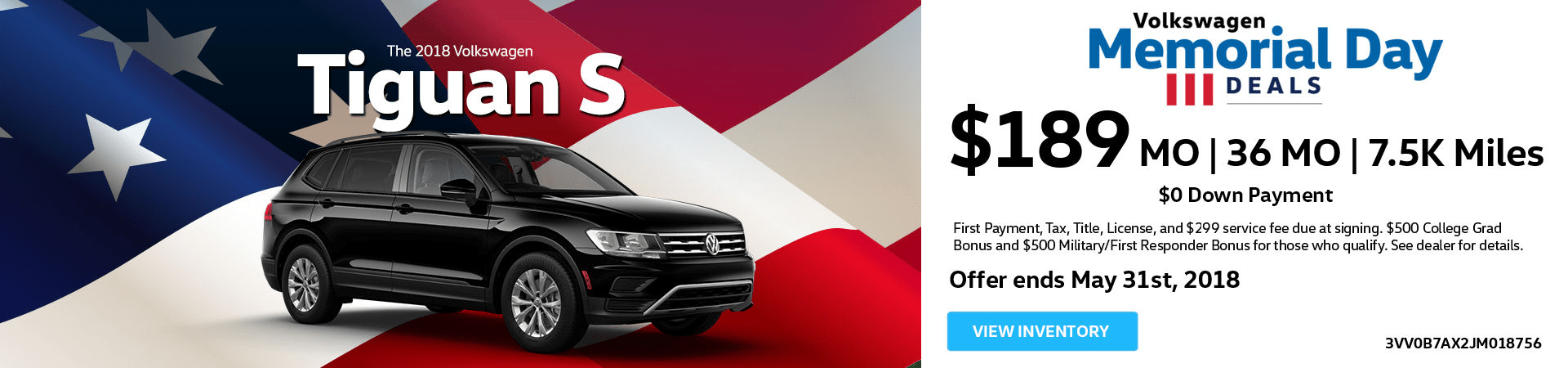 May Tiguan Offer