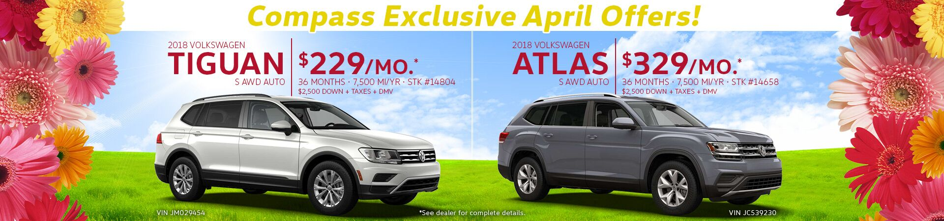 Atlas and Tiguan