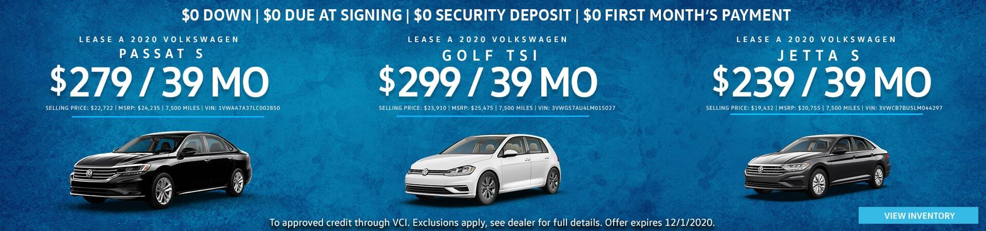 Hall VW Sedans and Hatchbacks