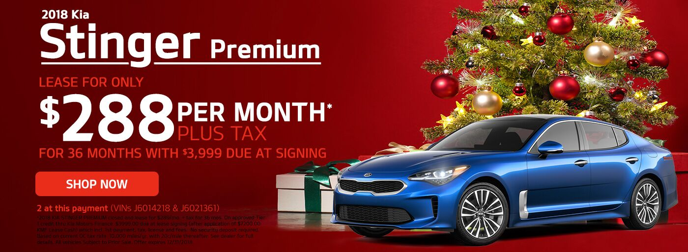 Kia Stinger December Special