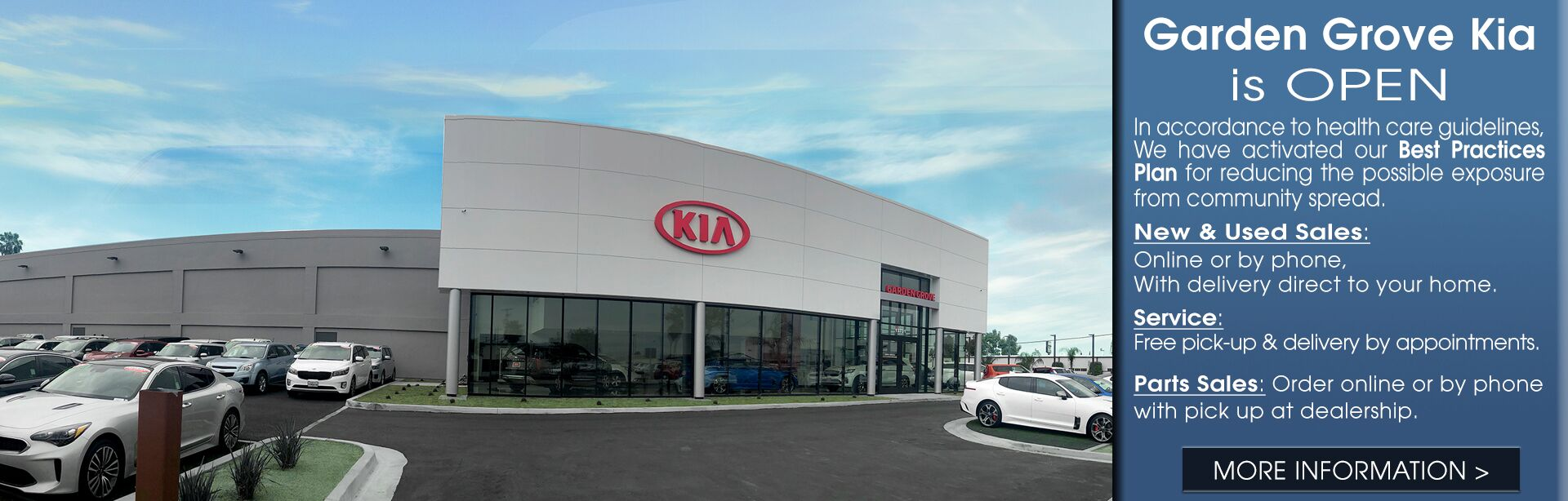 Garden Grove Kia Customer Health and Safety Best Practices Plan