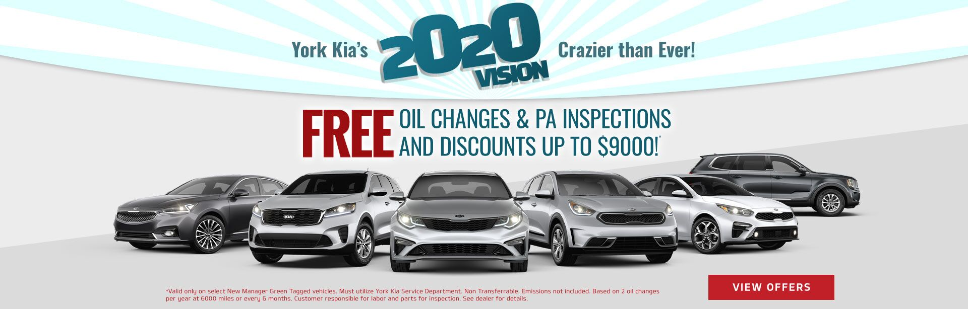 Free Oil Changes & PA Inspections and Discounts up to $9000