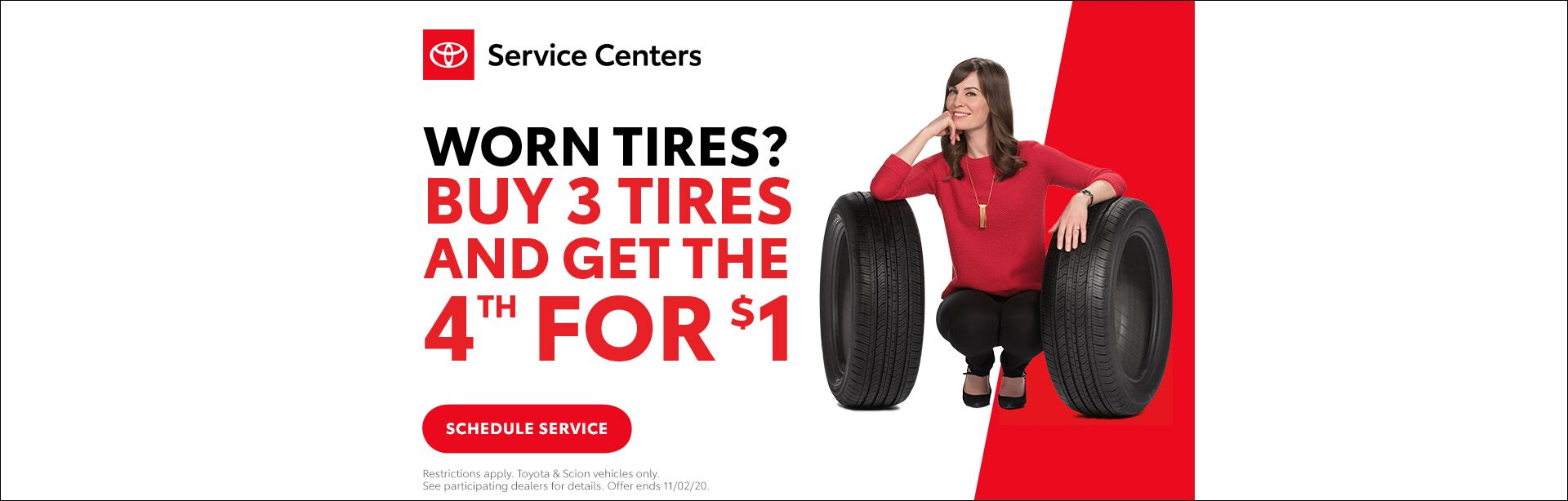 Burnsville Toyota Buy 3 Tires and Get the 4th for $1