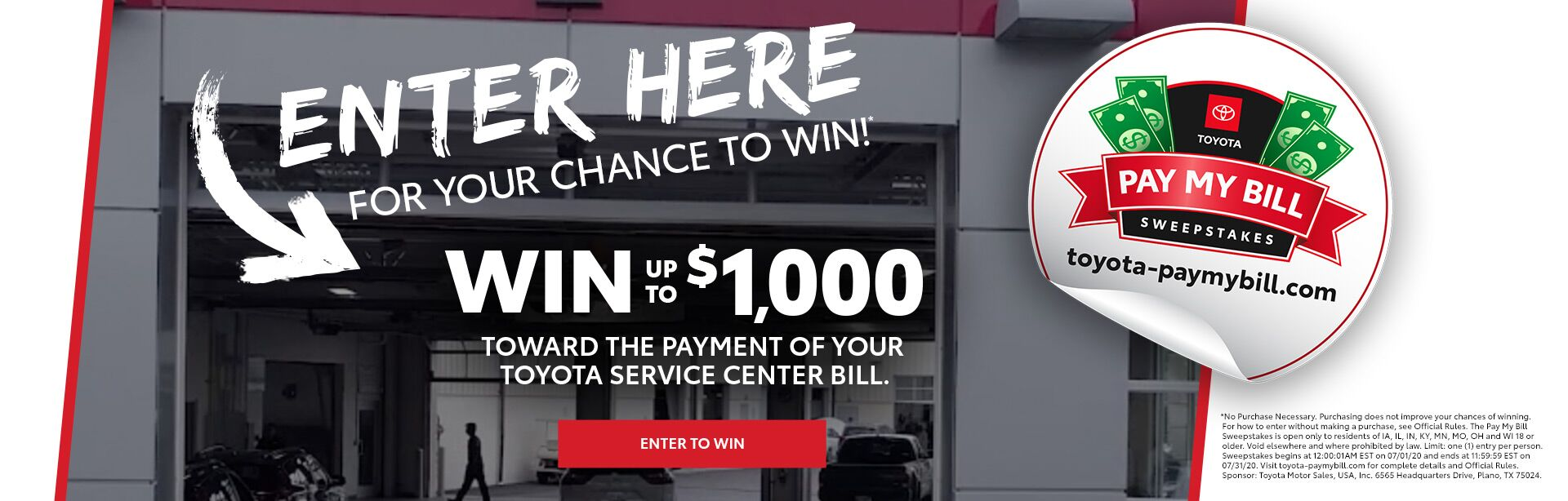 Burnsville Toyota Pay My Bill Sweepstakes