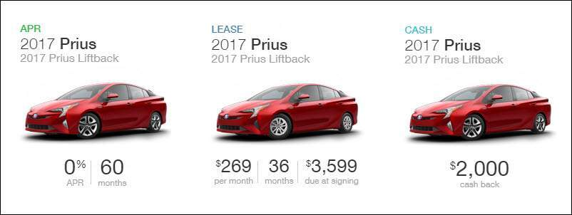 2017 Prius Lift back FWD
