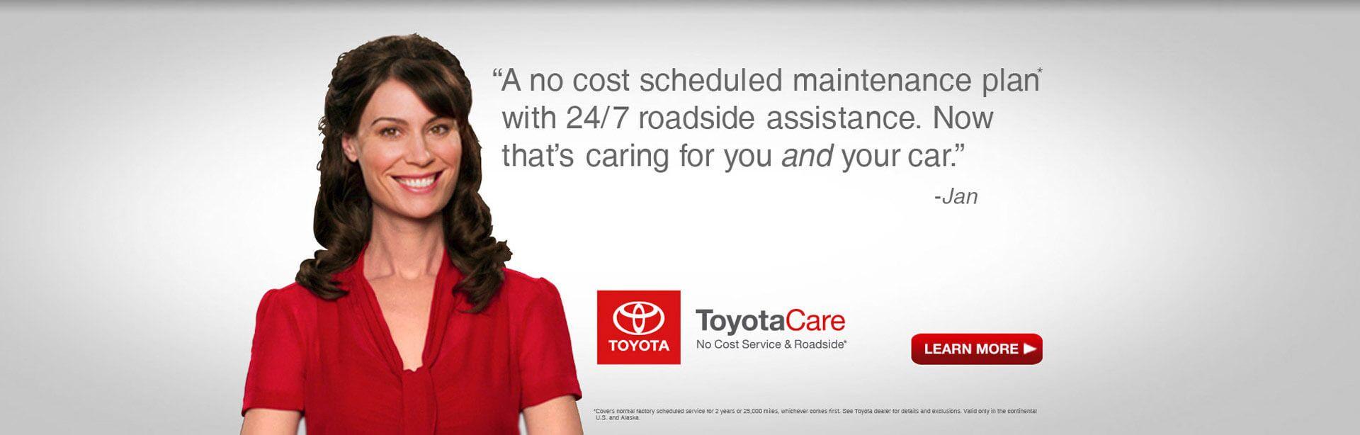 Toyotacare toyota express maintenance