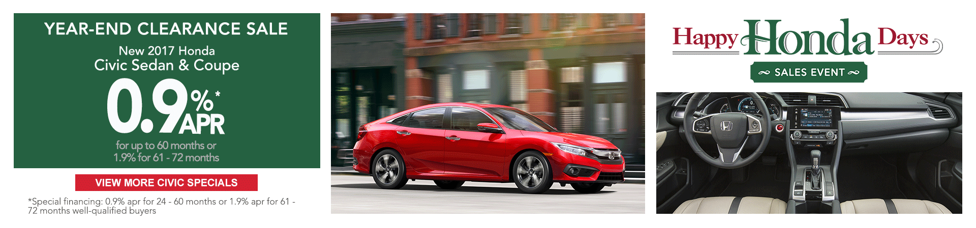 2017 Honda Civic Happy Honda Days Sale
