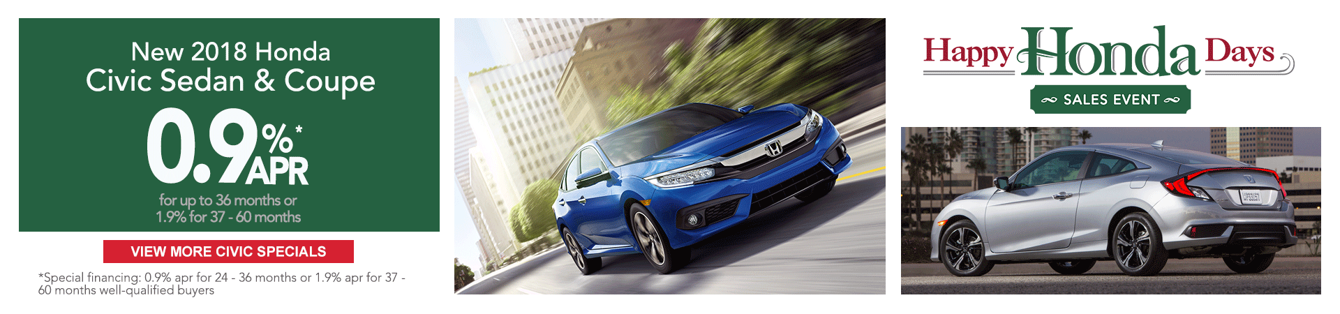 2018 Honda Civic Happy Honda Day Sale Event