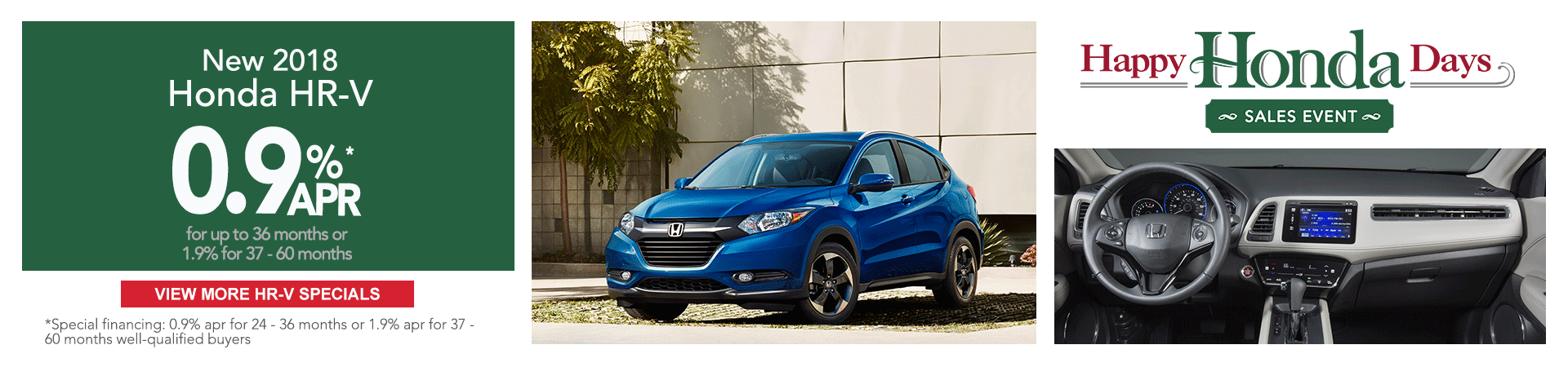 2018 Honda HR-V Happy Honda Days Sale