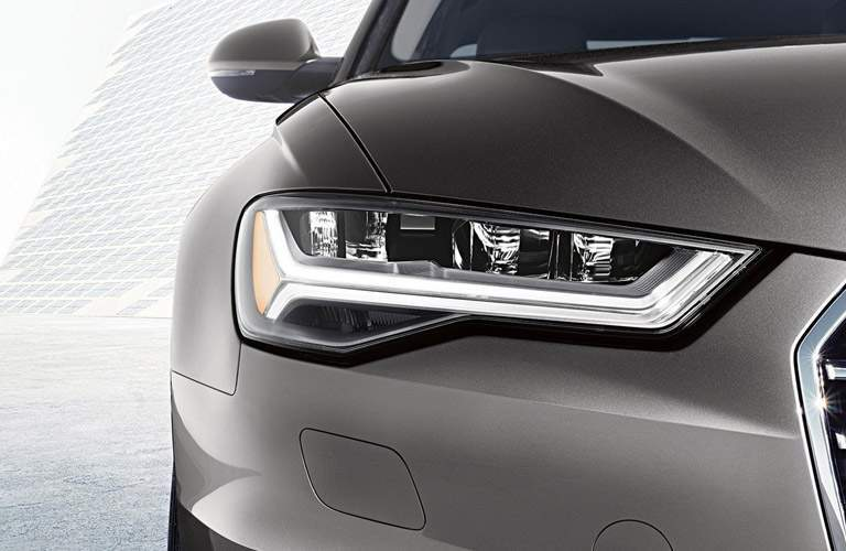 Headlight closeup of Audi A6