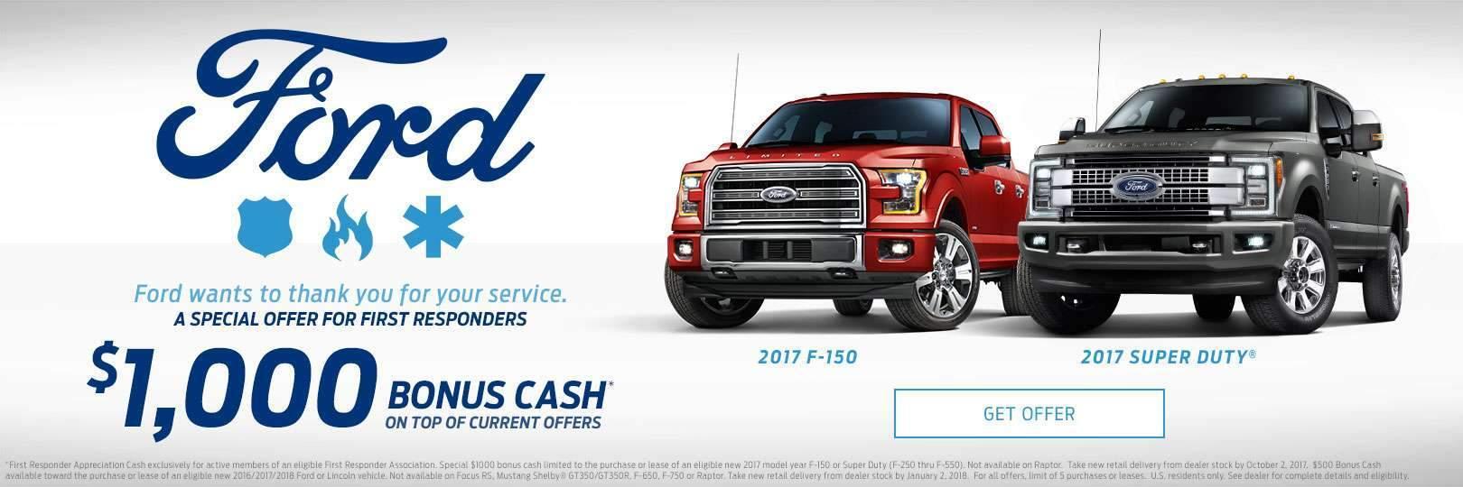 first responder cash & Ford Dealership Belleview FL | Used Cars Village Ford markmcfarlin.com