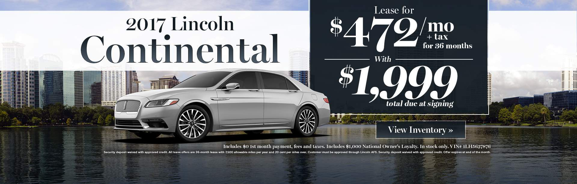 2017 Lincoln Continental lease special