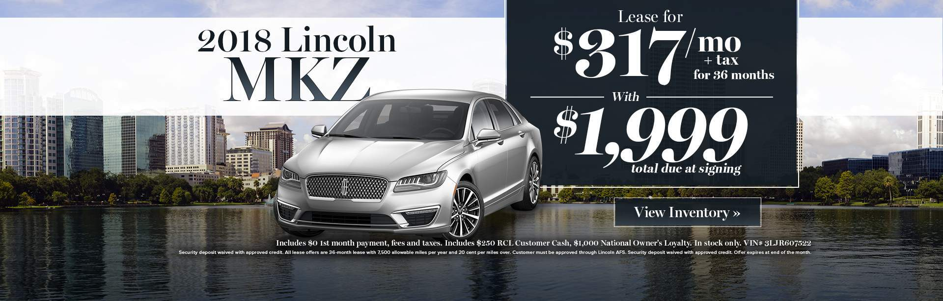 2017 Lincoln MKZ lease special
