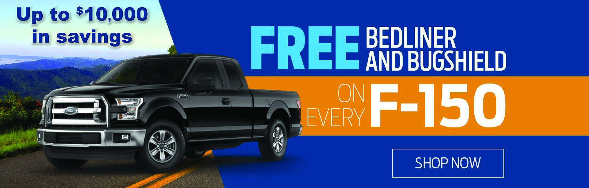 Free Bedliner and Bug Shield