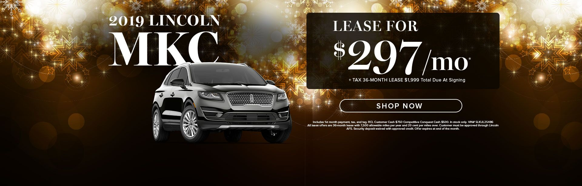 2019 Lincoln MKC lease special
