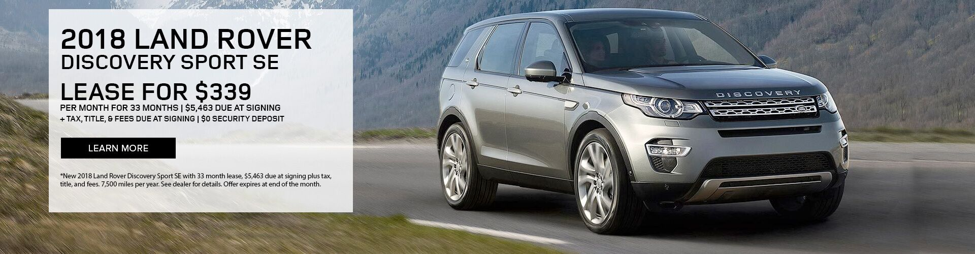 2018 Land Rover Discovery Sport lease special