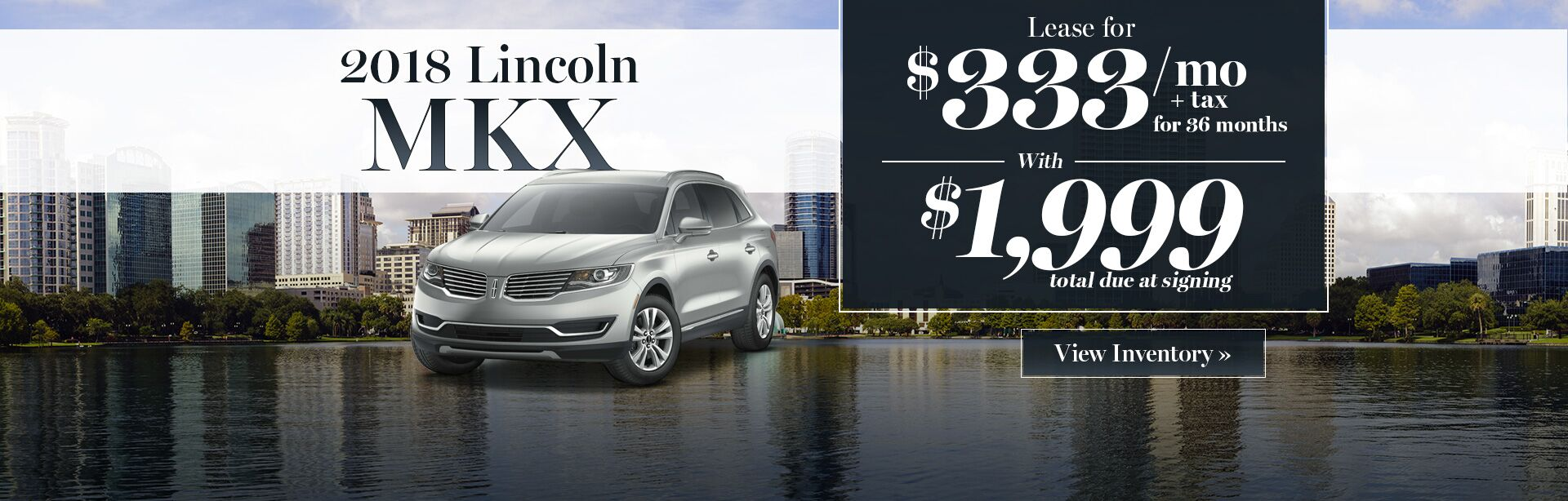 2018 Lincoln MKX lease special