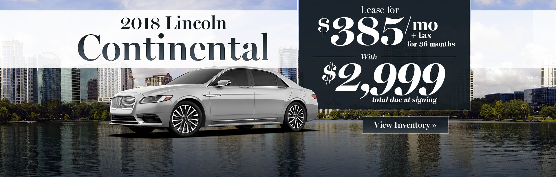 2018 Lincoln Continental lease special