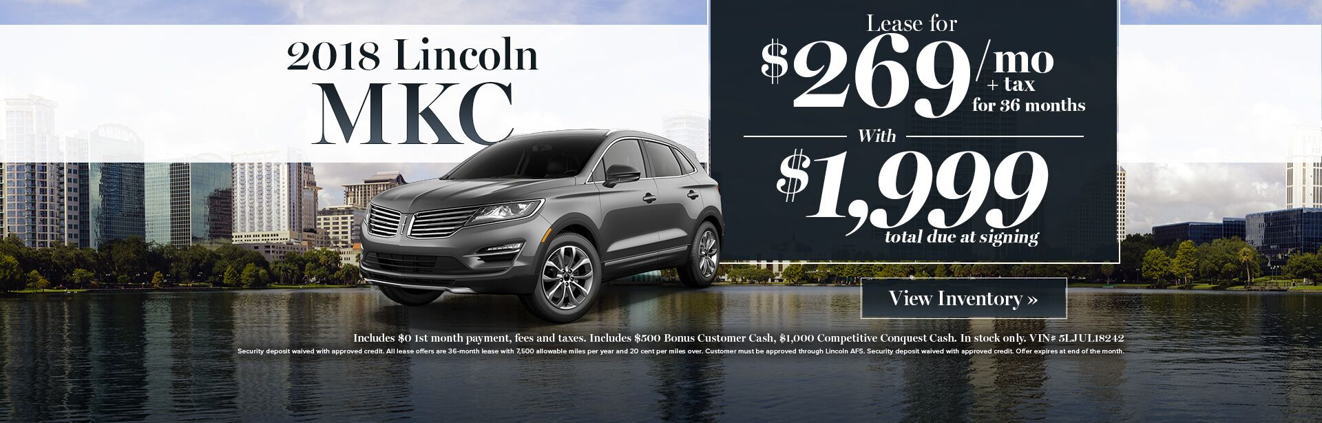 2018 Lincoln MKC lease special
