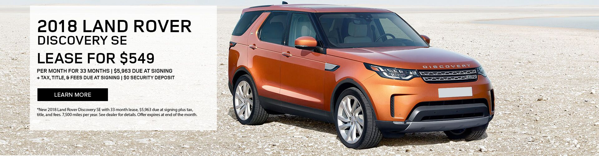 2018 Land Rover Discovery lease special