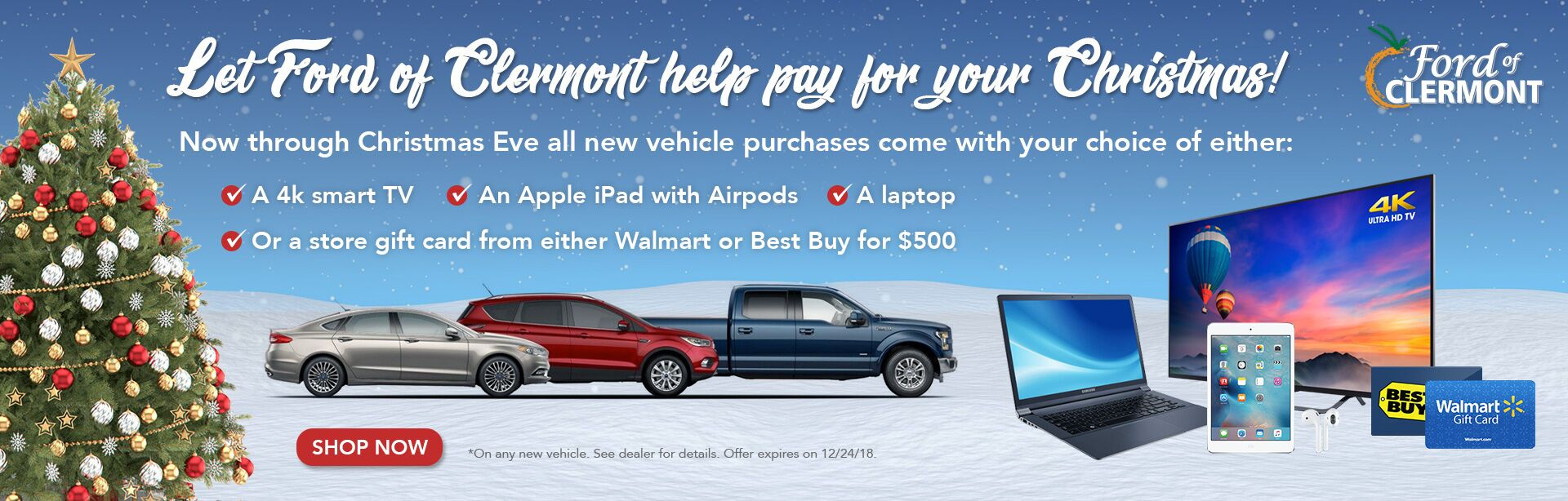 2018 Holiday Sales Event