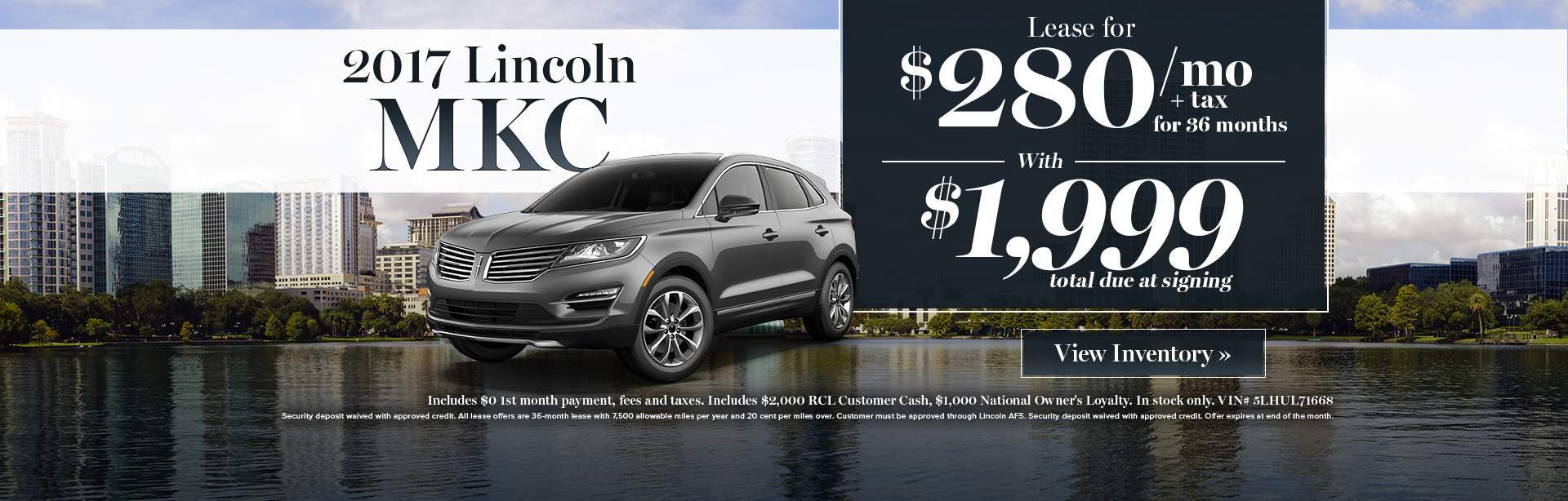 2017 Lincoln MKC lease special
