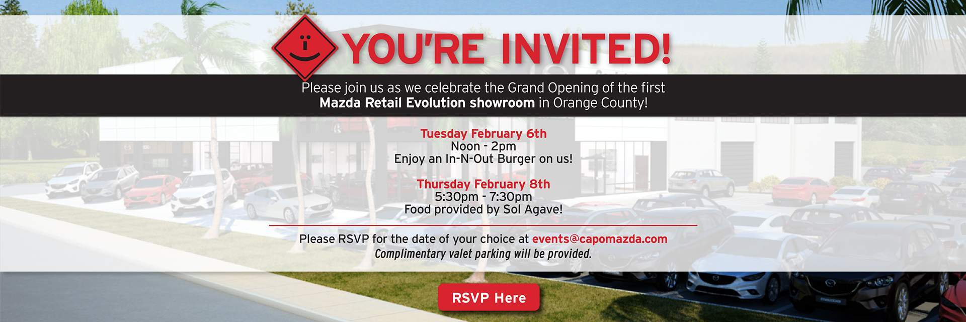 Join us for our Capistrano Mazda Grand Opening Events