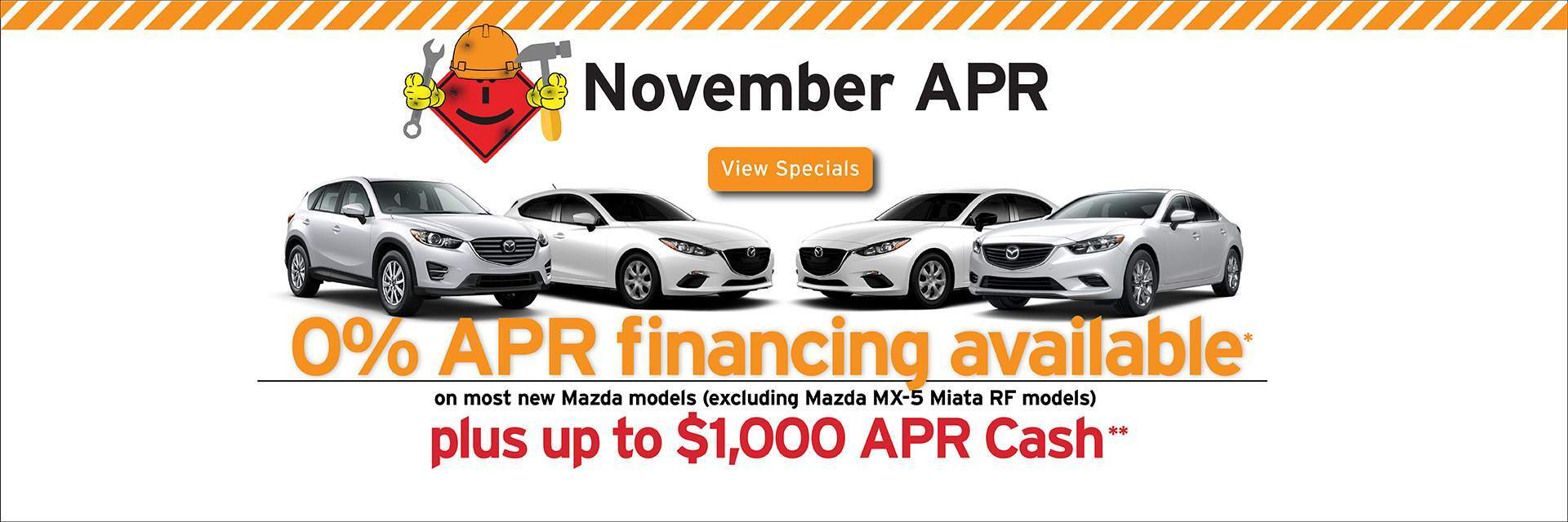 Capistrano Mazda APR offers - 0% APR up to 60 months + up to $1,500 Bonus Cash!