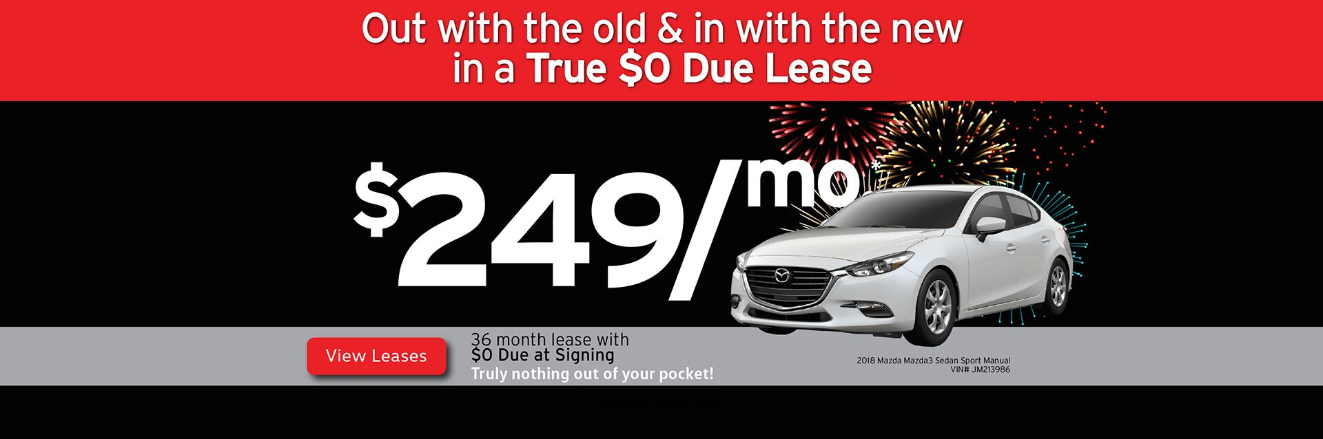 Capistrano Mazda New Year Lease Offers - Out with the old and in with the new!